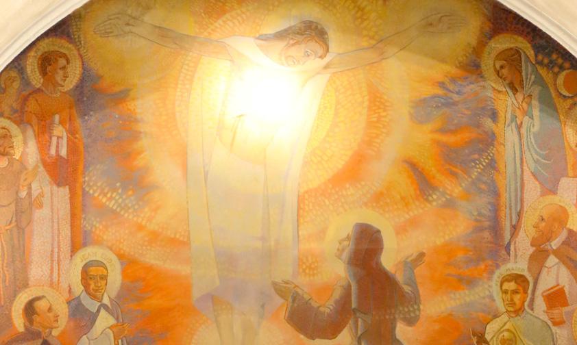 En Paray-le-Monial, el Sagrado Corazón viene reavivar la llama de nuestro amor se enfría