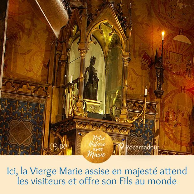 ROCAMADOUR, UN ESCALIER VERS LE CIEL Rocamadour-vierge_2